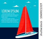 yacht club flyer design with... | Shutterstock .eps vector #1060021319