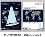 yacht club flyer design with... | Shutterstock .eps vector #1060021325