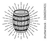 barrel with rays vector... | Shutterstock .eps vector #1060024421