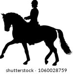 A Silhouette Of A Dressage...