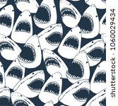 angry shark fish with open... | Shutterstock .eps vector #1060029434