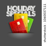 holiday specials sale   credit... | Shutterstock .eps vector #1060037111