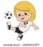 cartoon soccer kid.vector and...   Shutterstock .eps vector #1060041497