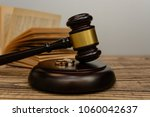 law and justice. judge gavel... | Shutterstock . vector #1060042637