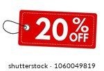 special offer 20  off label or... | Shutterstock .eps vector #1060049819