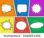 retro comic empty speech... | Shutterstock .eps vector #1060051304