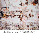 corroded white metal background.... | Shutterstock . vector #1060055531