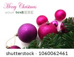 pink and purple christmas... | Shutterstock . vector #1060062461