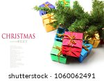 stack of red gift boxes... | Shutterstock . vector #1060062491