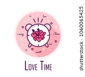 love time icon with alarm clock ... | Shutterstock .eps vector #1060065425
