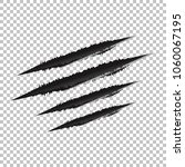 claws scratches vector isolated ...   Shutterstock .eps vector #1060067195