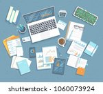 data analysis concept.... | Shutterstock .eps vector #1060073924