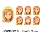 vector set of emotions | Shutterstock .eps vector #1060076267