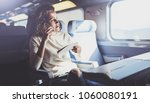 enjoying travel concept. young... | Shutterstock . vector #1060080191