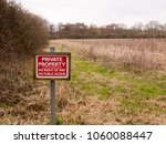 Red Wooden Private Property...
