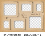 template for photo collage in... | Shutterstock .eps vector #1060088741