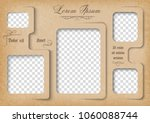template for photo collage in... | Shutterstock .eps vector #1060088744