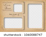 template for photo collage in... | Shutterstock .eps vector #1060088747