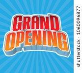 grand opening headline vector... | Shutterstock .eps vector #1060096877