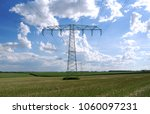 power lines  a 110 kv and a 220 ... | Shutterstock . vector #1060097231