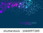 scientific molecule background... | Shutterstock .eps vector #1060097285