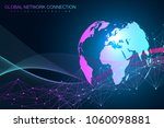 world map point with global... | Shutterstock .eps vector #1060098881