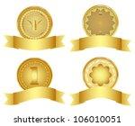 set of golden vector design...   Shutterstock .eps vector #106010051