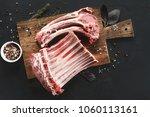 Raw Cut Rack Of Lamb. Fresh...
