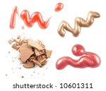 track of makeup on the white... | Shutterstock . vector #10601311