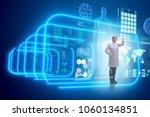 woman doctor in telemedicine... | Shutterstock . vector #1060134851