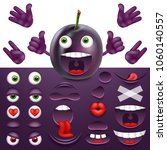 emoji  smiley creator from plum.... | Shutterstock .eps vector #1060140557