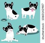 vector illustration of funny... | Shutterstock .eps vector #1060142987