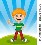 handsome little boy with...   Shutterstock . vector #1060144109