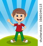 handsome little boy with...   Shutterstock . vector #1060144115