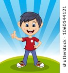 handsome little boy with...   Shutterstock . vector #1060144121