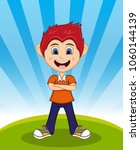 handsome little boy with...   Shutterstock . vector #1060144139
