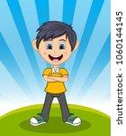 handsome little boy with...   Shutterstock . vector #1060144145
