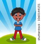 handsome little boy with...   Shutterstock . vector #1060144151