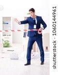 forensics investigator at the... | Shutterstock . vector #1060144961