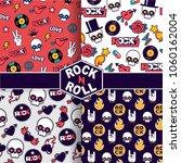 set of vector seamless rock... | Shutterstock .eps vector #1060162004