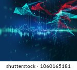 financial stock market graph on ... | Shutterstock . vector #1060165181