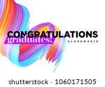 congratulations graduates class ...   Shutterstock .eps vector #1060171505