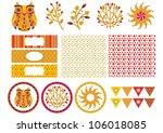 nature elements design set | Shutterstock .eps vector #106018085