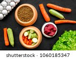 dry pet food with natural... | Shutterstock . vector #1060185347
