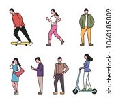 outline style people characters.... | Shutterstock .eps vector #1060185809