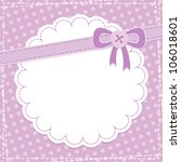 baby frame with violet bow and... | Shutterstock .eps vector #106018601