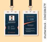multipurpose office id card...   Shutterstock .eps vector #1060186379