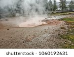 Small photo of Red Spouter exhibits the behavior of fumaroles, hot springs and mudpots. Later in the summer and fall, when the water table is lower, Red Spouter becomes a hissing fumarole.