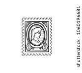 philately hand drawn outline... | Shutterstock .eps vector #1060196681