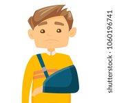 injured caucasian white man... | Shutterstock .eps vector #1060196741